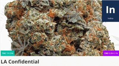 LA Confidential is a strong indica ideal for autism patients who prefer to have a body-numbing yet relaxing experience.